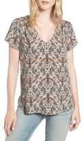 Hinge Women's Floral V-Neck Top