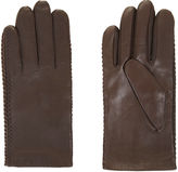 BCBGMAXAZRIA Whipstitch Leather Gloves
