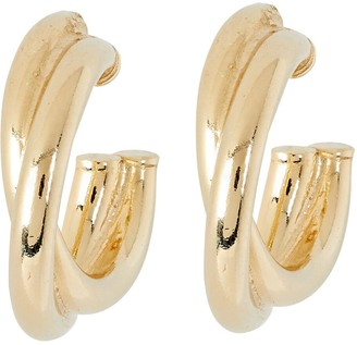 Argentovivo Criss-Cross Hoop Earrings