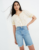 Madewell High-Rise Long Denim Shorts in Hedrick Wash