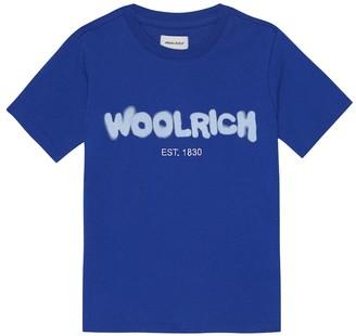 Woolrich Kids Logo cotton-jersey T-shirt