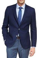 BOSS Textured Wool-Cotton Sport Coat, Blue