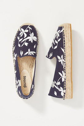 Soludos Shiloh Espadrille Flats By in Blue Size 8.5