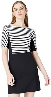 find. Women's Dress in Colour Block Striped Ponte Jersey with Flared Skirt,(Manufacturer size: Large)