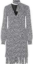 Michael Kors Fringed Floral-Print Silk-Crepe Dress