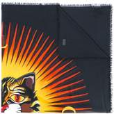 Gucci Angry cat print scarf