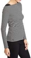 Lauren Ralph Lauren Striped Stretch Rib-Knit Top