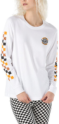 Vans Charra Check Long Sleeve Boyfriend Tee