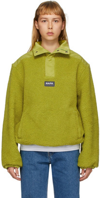 Martine Rose Green T-Crantock Fleece Zip Pullover