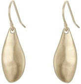 The Sak Small Metal Petal Drop Earrings