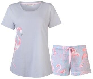 Cyberjammies Flamingo Shorts Set Womens