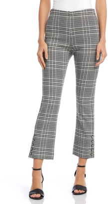Fifteen-Twenty Button Hem Plaid Pants