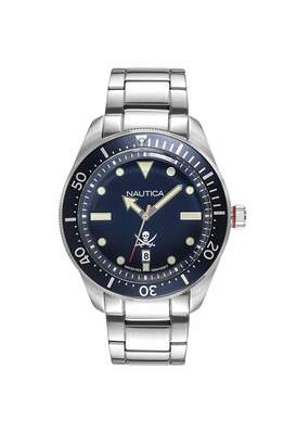 Nautica Unisex Adult Analog Quartz Watch with Stainless-Steel Strap NAPHCP905