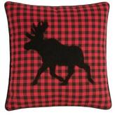 Swartz Moose Cotton Plaid Throw Pillow The Holiday Aisle