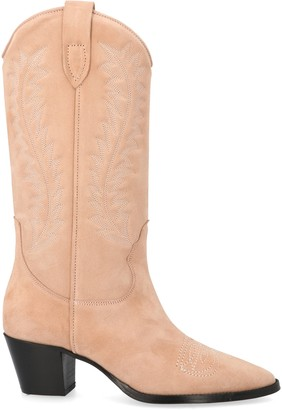 Paris Texas Embroidered Block Heel Boots