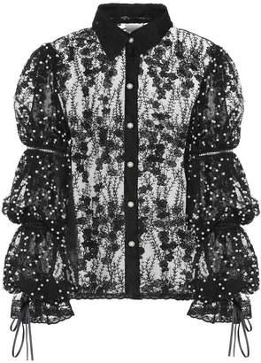 Huishan Zhang Odetta lace top