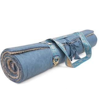 Holistic Silk Yoga Rug Mat Denim