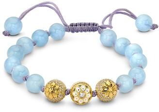 BUDDHA MAMA 20kt Yellow Gold Diamond Bead Bracelet