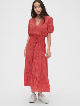 Gap Print Tiered Maxi Dress