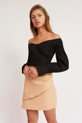 Finders Keepers CORSET SHIRTING BODICE Black