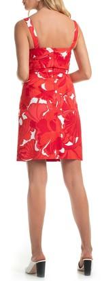 Trina Turk Lani Leaf Print Dress