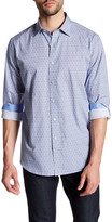 Bugatchi Classic Fit Marble Print Sport Shirt