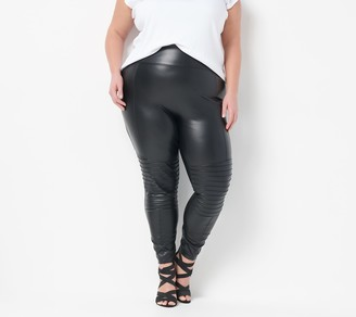 All Worthy Hunter McGrady Regular Faux Leather Legging w/ Pintucks