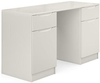 Bilbao Ready Assembled High Gloss Desk - Grey