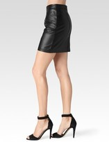 Paige Rayleigh Skirt - Black Leather
