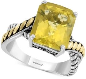 Effy Lemon Quartz (5-5/8 ct. t.w.) Ring in Sterling Silver & 18k Gold