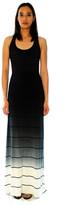 Saint Grace Sunset Stripe Maxi Tank Dress In Black Ombre Wash