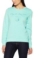 Gant Women's Shield C-Neck Sweat Sweatshirt,L