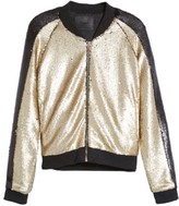 Blank NYC Women's Blanknyc Sequin Bomber Jacket
