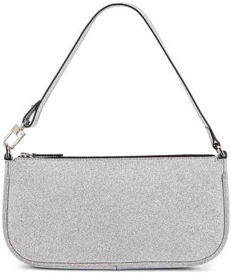 BY FAR Rachel Glitter Leather Bag in Silver | FWRD
