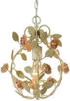 AF Lighting Elements Ramblin' Rose Mini Chandelier in Cream