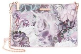 Ted Baker Illuminated Bloom Leather Crossbody Bag - Purple