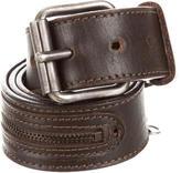 Dolce & Gabbana Silver-Tone Leather Belt