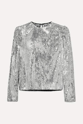 Philosophy di Lorenzo Serafini Sequined Tulle Top - Silver