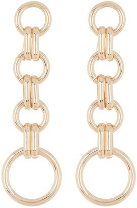 Halogen Circle Links Linear Earrings