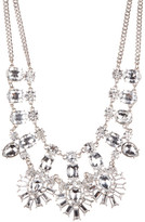 Natasha Accessories Double Strand Crystal Cluster Necklace