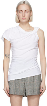 Alexander McQueen White Knotted T-Shirt