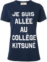MAISON KITSUNÉ front print T-shirt - women - Cotton - XS