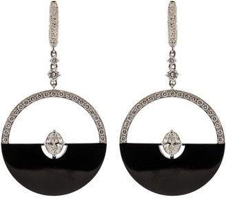 Mariani Black Half Moon and Diamond Earrings
