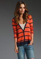 Harbor Stripe Loose Knit Cardigan