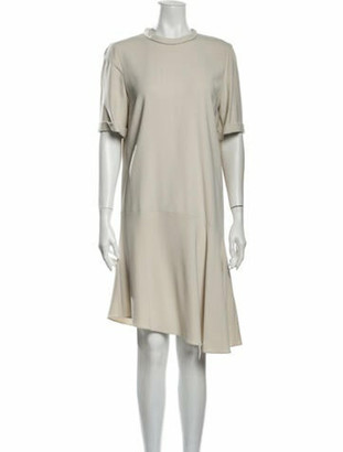Brunello Cucinelli Crew Neck Knee-Length Dress