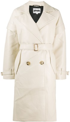 Apparis Kiera Vegan Leather Trench Coat