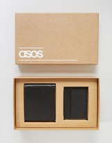 Asos Gift Set With Leather Wallet and Card Holder