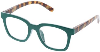 Peepers Women's To The Max - Emerald/tortoise 2517000 Square Reading Glasses