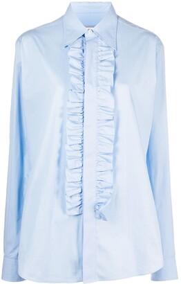 AMI Paris Ruffled Front Shirt