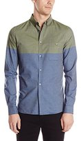 French Connection Men's Coliseum Chambray Long Sleeve Button Down Shirt